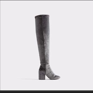 Thigh high gray Aldo boots NWT